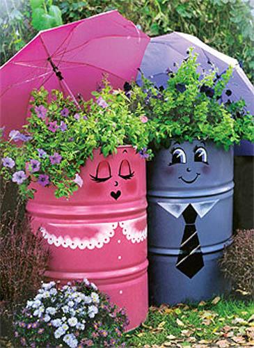 Garden Decorations Recycling Ideas Backyard Decorating 2