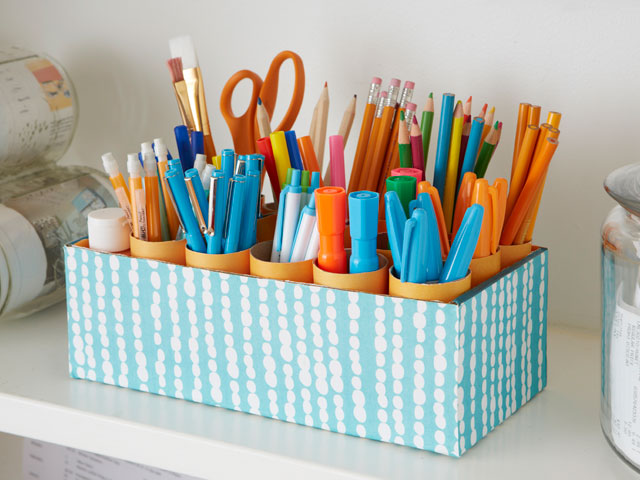 shoe box caddy 15 Interesting and Useful DIY Desk Organizers