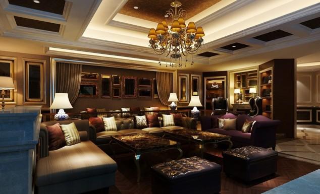 Fascinating European Living Room Ceiling Design