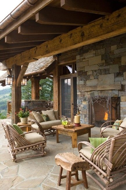 16 Awe-Inspiring Rustic Patios That Will Be Your Favorite ... on Cozy Patio Ideas id=46792