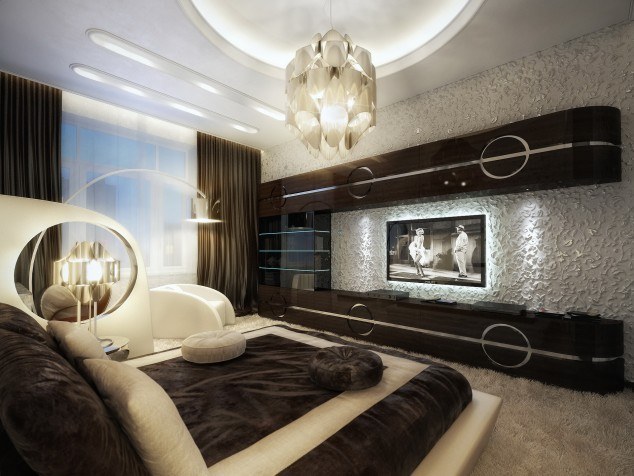 16 Contemporary And Modern Bedroom Designs With TV