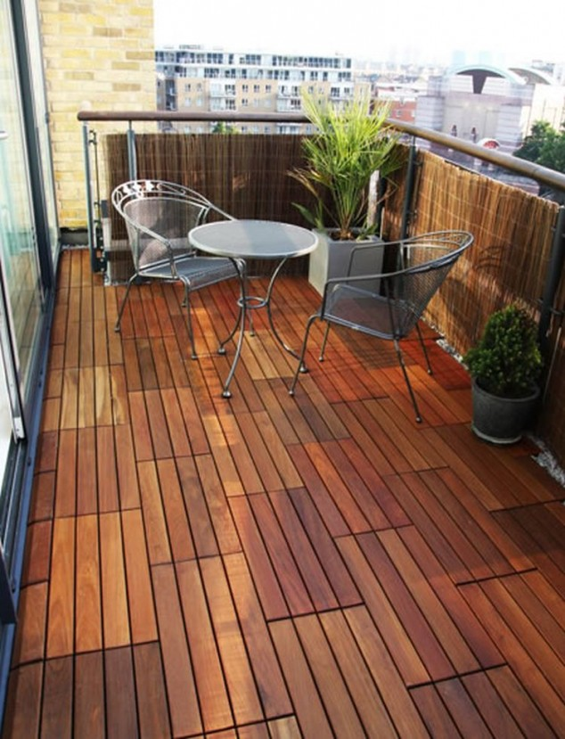 15 Chic And Interesting Ideas For Your Balcony Floor