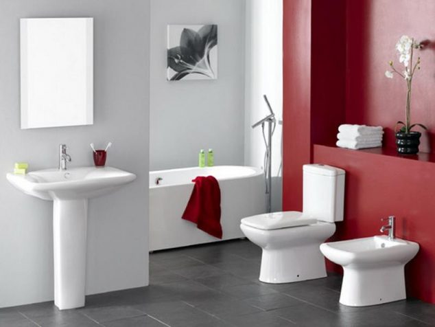 12 Red Accent Bathroom Ideas To Fall In Love With