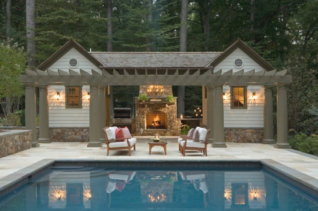 15 Cool Pool House With A Bar That You
