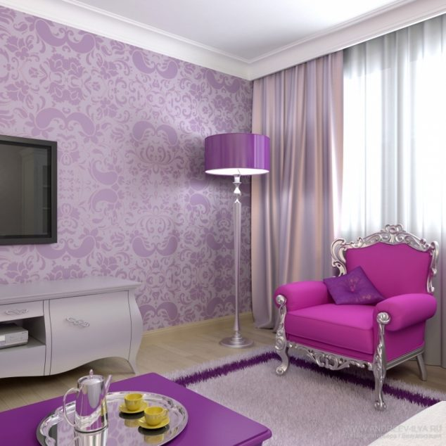 purple walls in living room purple and white living room 21676