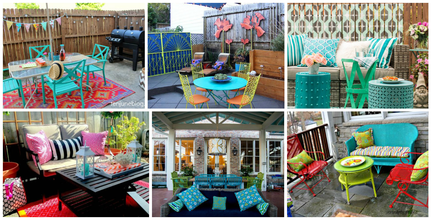 13 Colorful And Youthful Patio Decorating Ideas That Will ... on Colorful Patio Ideas id=39725