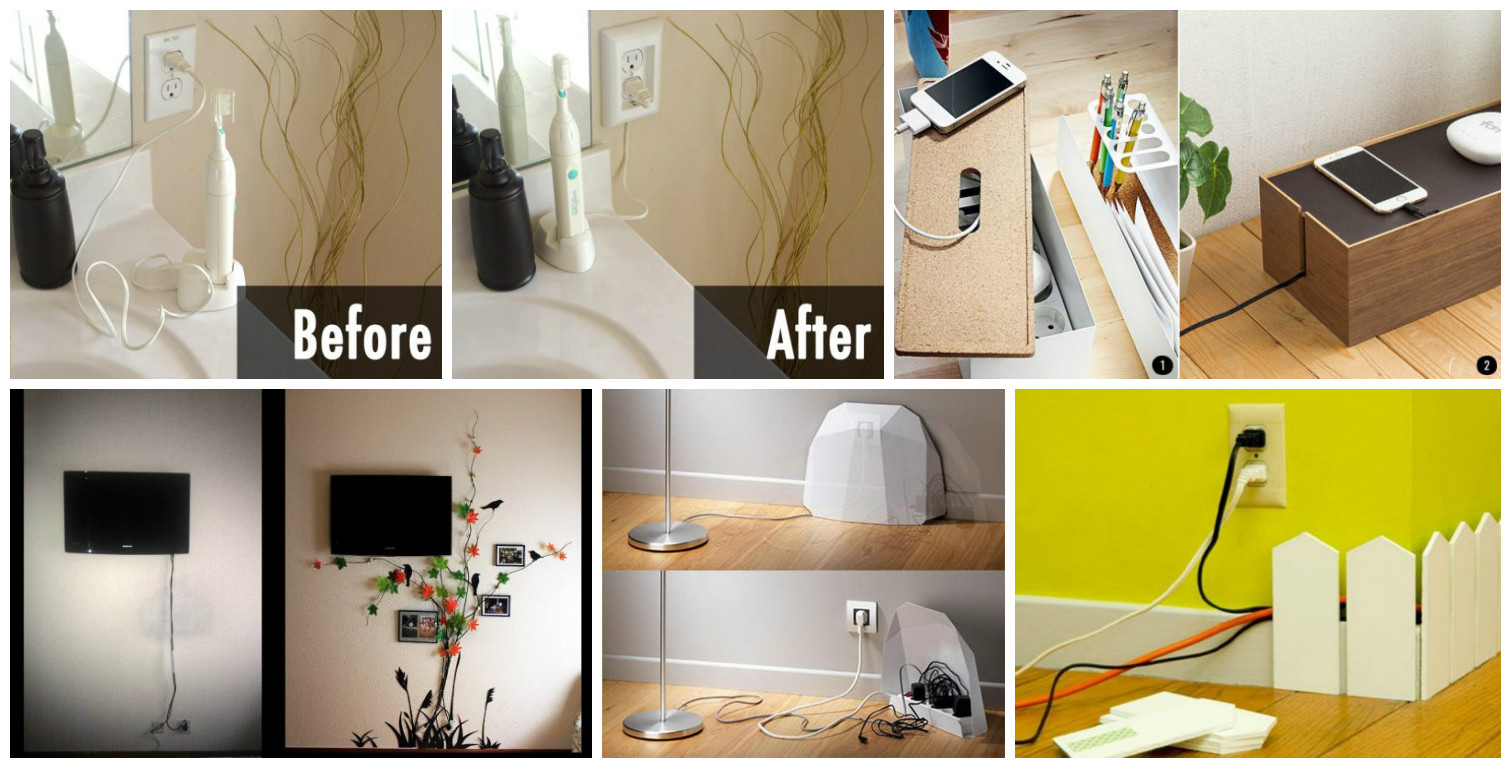 Hide Electrical Wires Home Wire Center Electricityhouse Wiring Smart House 12 Ways How To Cords And Create Cable Wall Art At Rh Fantasticviewpoint Com On A