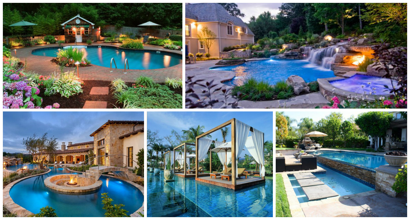 16 Garden And Backyard Swimming Pool Stepping Ideas that ... on Dream Backyard With Pool id=75879