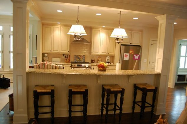 Half Wall Kitchen Islands With Seating 848285 634x421 13 Affordable In For Breakfast