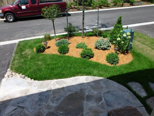 15 Simple Landscape in The Front Yard Only For Your Eyes on Simple Backyard Landscaping Ideas id=86314
