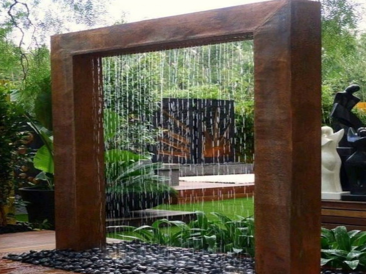 Outdoor Wall Water Features Diy Fountain 792b95e52f099699