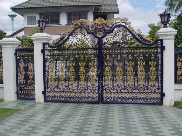 Modern Gate Design For Elegant Addition