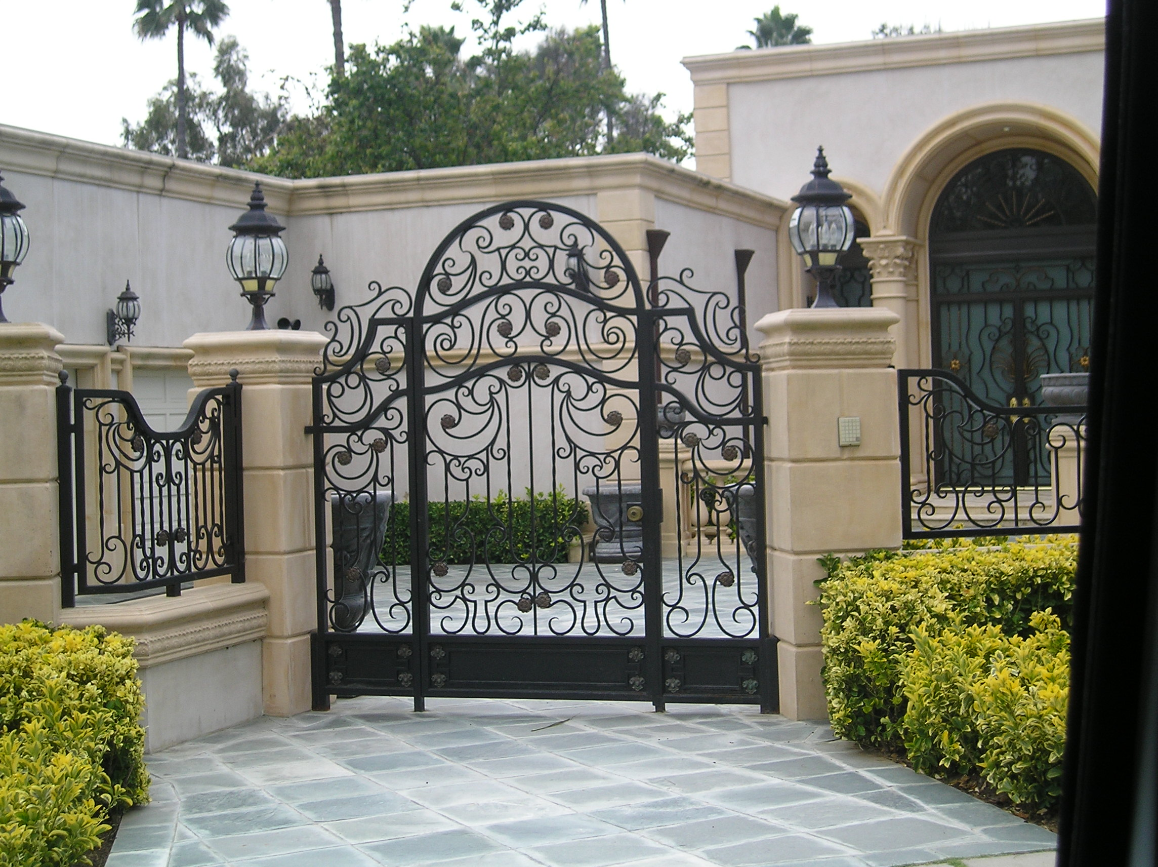 Architecture Electric Gate Steel And Metal Design Driveway Iron Home Security Wrought Modern Door Front Gates Designs Homes Farm Rod Locks House