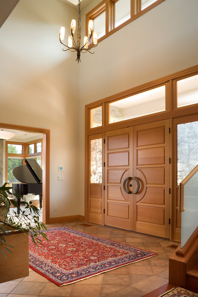 Double Entry Doors In Contemporary With Door Area Rug 7