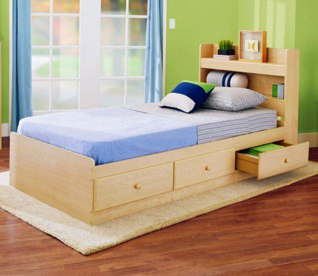 Kids Wood Bed Frame