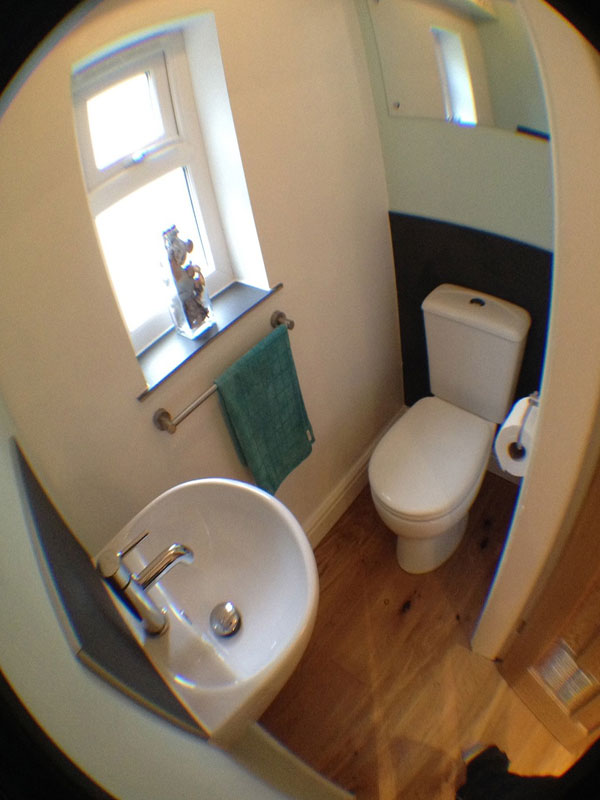 Good Looking Minimum Size Toilet For Under The Stairs