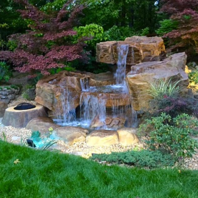 Backyard Waterfall Pond 634x634 The Most Fanciful Water Features Ideas