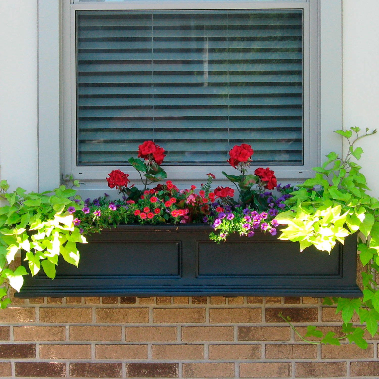 290309 Window Box Freestanding Planter Black