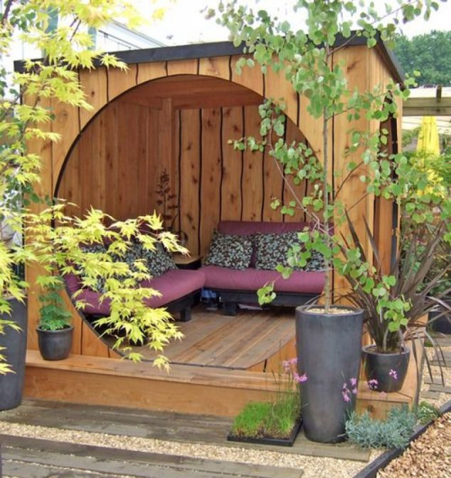 15 Adorable Backyard Seating Areas to Turn Yard Into ... on Back Garden Seating Area Ideas id=42519
