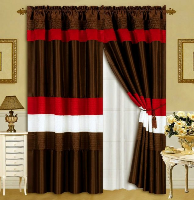 Red And Chocolate Curtains